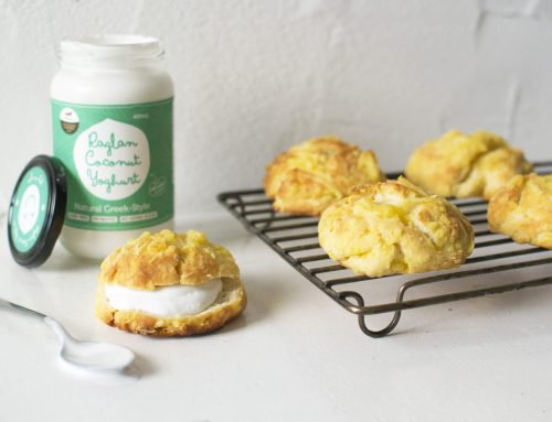 3-ingredient cheese scones (v, df, rsf)