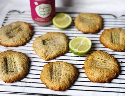 Vegan raspberry & lime cookies (v, df, gf)