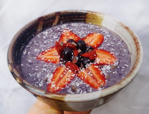 Hemp super berry smoothie bowl (v, df, gf, rsf)
