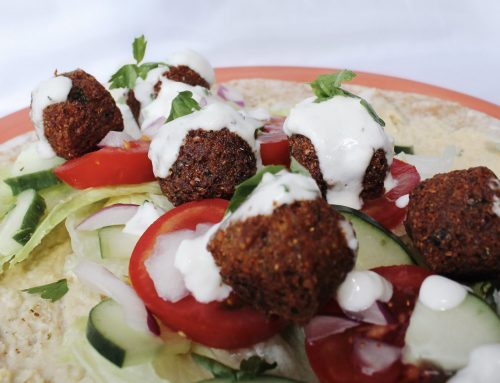 Vegan Falafel Wraps with Coconut Yoghurt Dressing (v, df, gf)