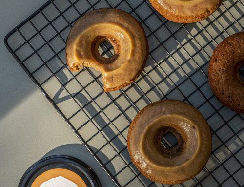 Salted Caramel Doughnuts (v, df)