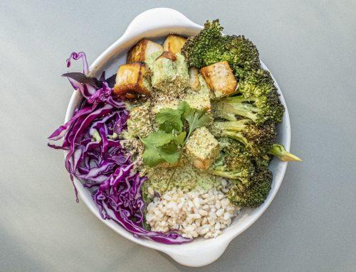 Coconut Coriander Tofu Bowl (v, df, rsf)